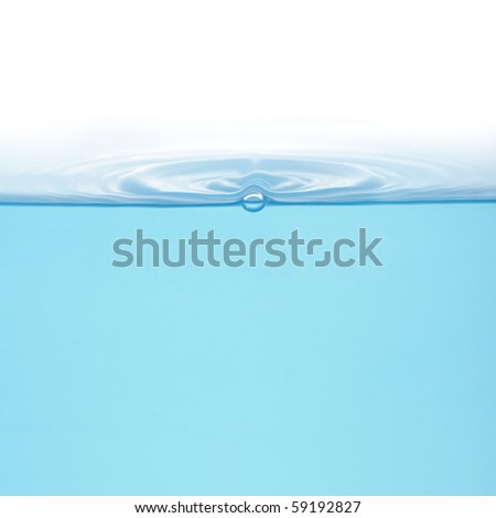Rings on water isolated on white background