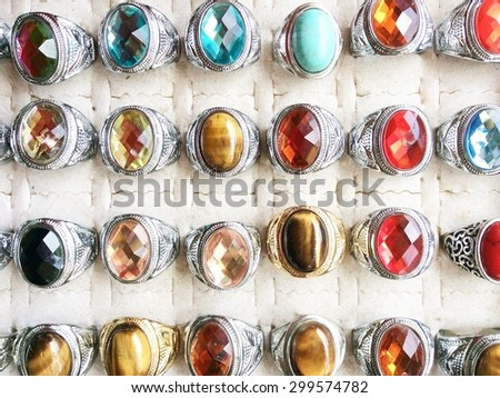 rings with precious stones in the market