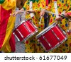 Rio Brazil Samba Cranival music played on drums by colorfully dressed  musicians - stock photo