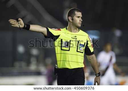 Rio de Janeiro, Brasil - july 09, 2016: Alisson Sidnei Furtado referee in match between Vasco and Brasil by the Brazilian championship in the Sao Januario Stadium