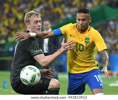 Rio de Janeiro-Brazil 21 August 2016, the end of football in the Olympic Games 2016 Brazil and Germany player Neymar