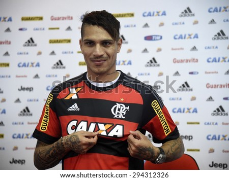 Rio de Janeiro-Brazil July 7, 2015, presentation of the new Flamengo soccer player - Paolo Guerrero