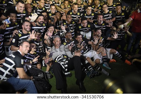 RIO DE JANEIRO, BRAZIL -November 19 , 2015: Soccer match between Vasco and Corinthians at Sao Januario during the national  Championship. Brazilian champion Corinthians 2015, case number : 01851135