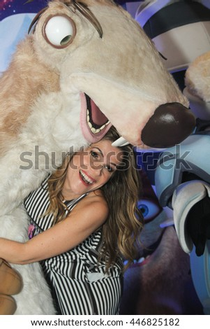"RIO DE JANEIRO, JULY 03, 2016: Actress Ingrid Guimaraes attends the World Premiere of ""Ice Age: collision Course at Cinemark Theater in Rio de Janeiro"