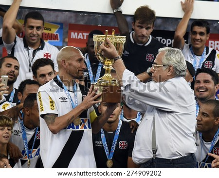 Rio de Janeiro, May 03, 2015- Carioca championship football, joo etreVasco da Gama and Botafogo. Champion 2015, was Vasco.  The match took place at the Maracana stadium.