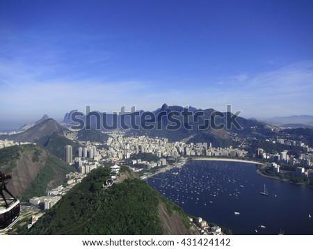 Rio de Janeiro Skyline - stock photo