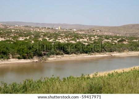 Rio Grande Wild and Scenic River - stock photo