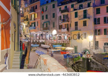 Riomaggiore. Italian village on the coast.