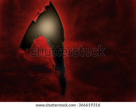 Rip, tear in the space time continuum? Interesting dark sci-fi, science fiction background. - stock photo