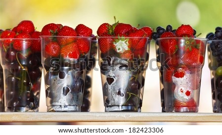 ripe and juicy berries. - stock photo