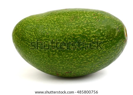 Ripe Avocado fruit isolated on white background