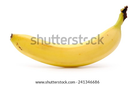 ripe banana isolated on white - stock photo