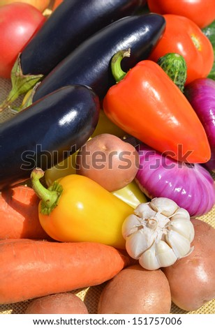 Ripe bright vegetables - stock photo