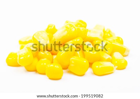 Ripe corn isolated on white background - stock photo