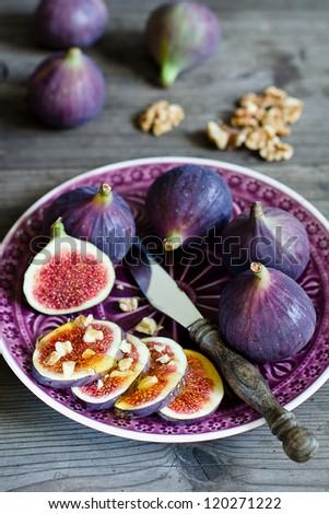 Ripe fresh Fig - stock photo