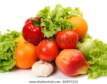 Ripe fruit and vegetables