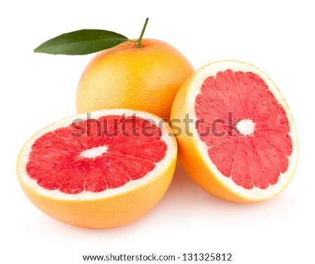 ripe grapefruits - stock photo