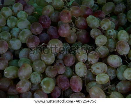 Ripe grapes close-up