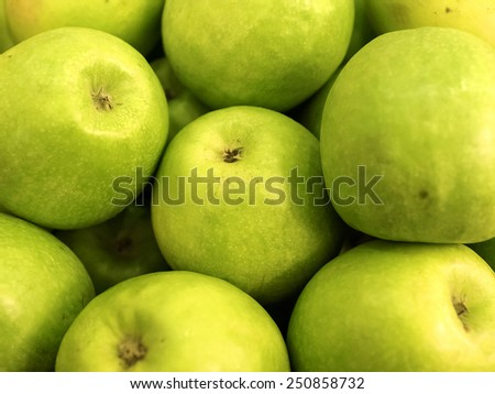 ripe green apples - stock photo