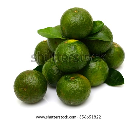 ripe king orange fruits isolated on white background