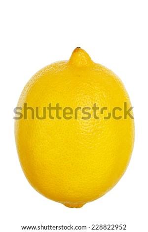 ripe lemon isolated on white - stock photo