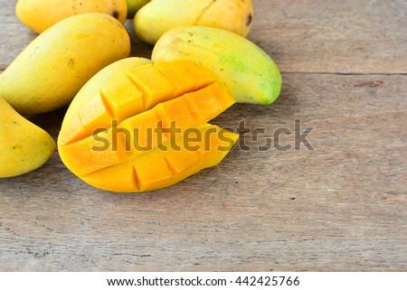 Ripe mango sweet and delicious  - stock photo