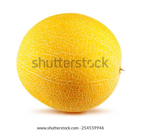 Ripe melon isolated on white background - stock photo