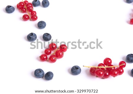 ripe of berries on a white background