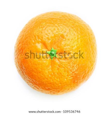 Ripe orange isolated - stock photo