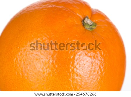 Ripe orange isolated on a white background.