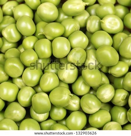 Ripe pea vegetable - stock photo