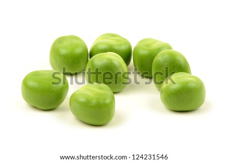 Ripe pea vegetable. Isolated on white background - stock photo