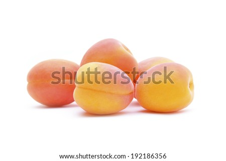 Ripe Peach Isolated on White Background - stock photo