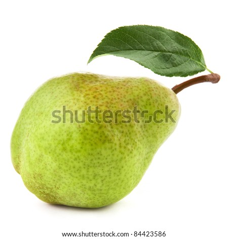 Ripe pears isolated on white background  + Clipping Path - stock photo