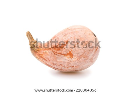 ripe pumpkin on a white background