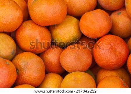 Ripe tangerines  - stock photo