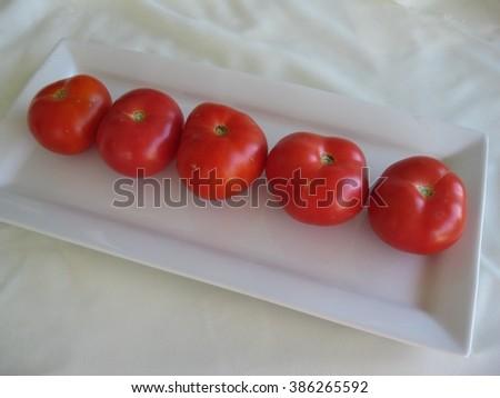 Ripe tomatoes  - stock photo