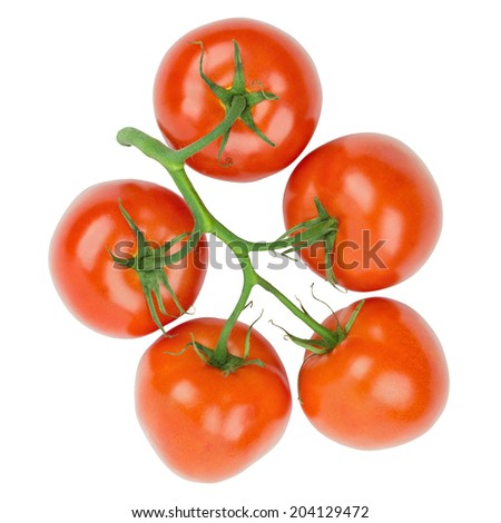 Ripe tomatoes isolated on a white background  - stock photo