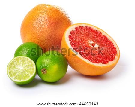 Ripe tropical fruits - stock photo