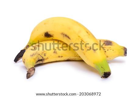 ripen banana isolated on white background - stock photo