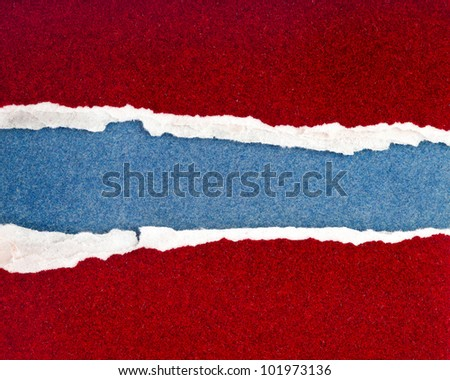 Ripped Colorful Papers , background for text - stock photo