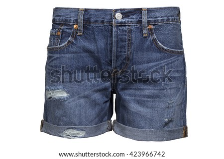 Ripped handmade jeans shorts