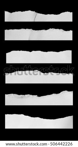 ripped paper on dark background