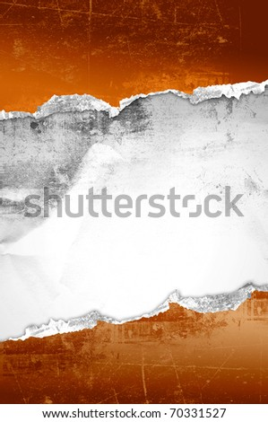ripped red paper for the background - stock photo