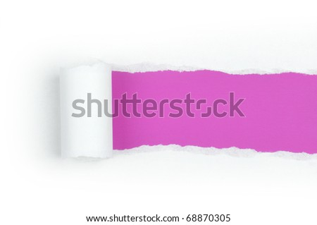 Ripper paper with space for text with pink background