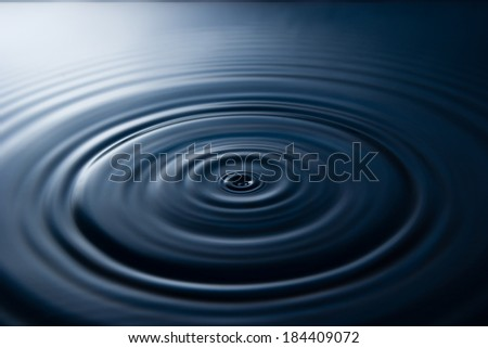 ripple of drop water - stock photo