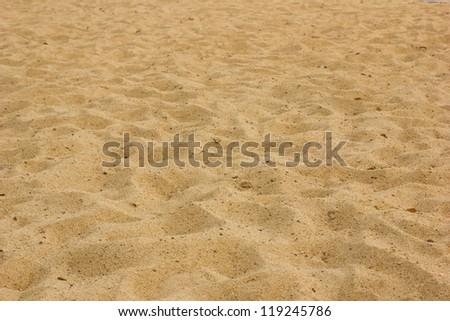 rippled sand - stock photo