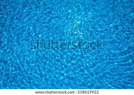 Rippled water in swimming pool