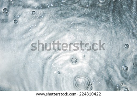 ripples and bubbles on the water surface