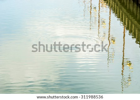 ripples and reflection in the river